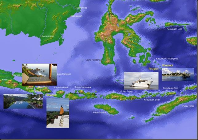 Reiseroute 2011 Indonesien