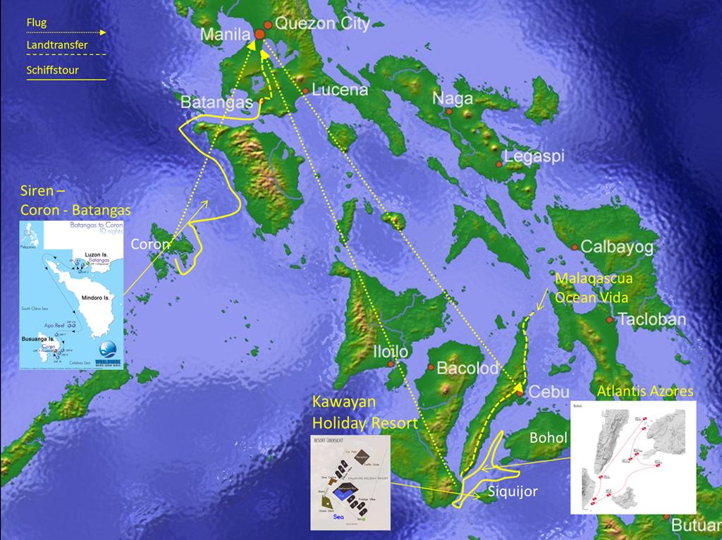 Reiseroute Philippinen 2012